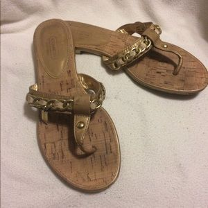 Cork Sole COACH Thong Style Sandals-Beautiful!